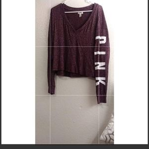 VS PINK light weight cropped long sleeve!